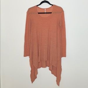 Free People Orange Thermal Top